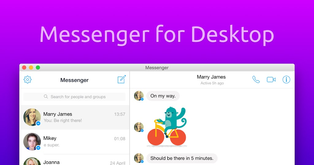 Facebook Messenger is coming to the desktop